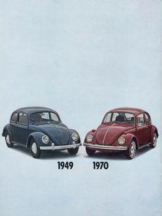 1949 Volkswagen Beetle vs. 1970 Volkswagen Beetle