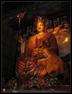 南無大願地藏王菩薩摩訶薩 - 地藏菩薩照片.峨眉山大佛禪院之地藏殿