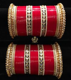 Learn more about Pandora Jewelry and the secret behind their amazing products and fashion accesories Bridal Bangles, Bridal Jewelry Sets, Bridal Accessories, Bridal Jewellery, Indian Bridal Outfits, Indian Wedding Jewelry, Indian Dresses, Wedding Chura, Silver Bracelet For Girls