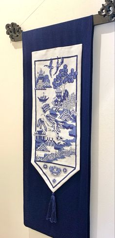 Willow Pattern, Decorating Ideas, Heaven, Chinese, Blue And White, Embroidery, Sewing, Room, Bedroom