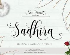 """Check out new work on my @Behance portfolio: """"Sadhira Script - Font Calligraphy"""" http://be.net/gallery/45943409/Sadhira-Script-Font-Calligraphy"""