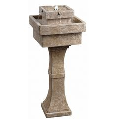 Buy the Kenroy Home Sandstone Direct. Shop for the Kenroy Home Sandstone Cadet High Outdoor Free Standing LED Fountain and save. Tabletop Fountain, Indoor Fountain, Fountain Ideas, Indestructable Dog Bed, Garden Fountains, Solar Fountains, Outdoor Fountains, Diy Solar, Outdoor Settings