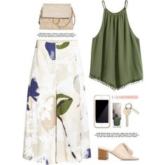 Floral culottes by yexyka on Polyvore featuring Erika Cavallini Semi-Couture, River Island, Chloé, Squair and Burberry