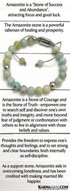 "Beaded Bracelets | Reiki Healing | Mens & Womens Yoga Jewelry | #Blue #amazonite is known as the lucky ""Hope Stone"". It will be lucky for all your hopes and #dreams. #BoHo #zen #reiki #Bracelets #BEADED #Gemstone #Mens #GiftsForHim #Lucky #womens #Jewelry #gifts #Chakra #FitMom #Gifts #Blog #Kundalini #LawofAttraction #LOA #Love #Mantra #Mala #wisdom #CrystalEnergy #Spiritual #Gifts #Blog #Mommy #Meditation #prayer #mindfulness #Healing #friendship #MothersDay #BachelorNation"