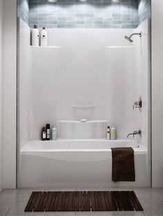Bathroom Fiberglass Shower Unit