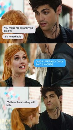 Clary and Alec tumblr #shadowhunters