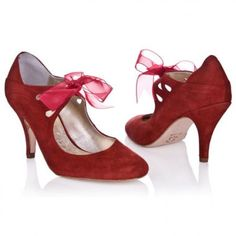"""Zapatos """"Lola"""" de Rachel Simpson en color rojo, para las novias osadas"""