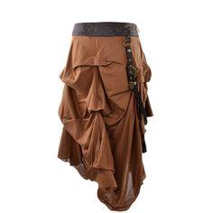 Brown Steampunk Short Skirt | Steampunk Clothing