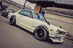 Wide rims on an old skyline-dream car.. ~71 skyline... buy it for me? (:
