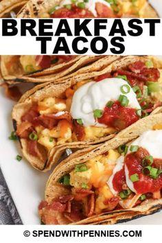 21 Day Fix Breakfast, Breakfast Tacos, Breakfast For Dinner, Second Breakfast, Breakfast Club, Delicious Breakfast Recipes, Brunch Recipes, School Lunches, Recipes