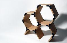 Honeycomb, or Hexa Shelf by Sam Holmes