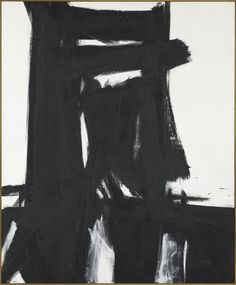 """Franz Kline 'Meryon' 1960 """"I paint not the things I see but the feelings they arouse in me.""""—Franz Kline"""