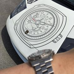 "Going to join in on some old #SGWFshootout  #watchfam ""Whatch Your Reflection"" @rhyno500 @sgwfshootout #Watchfamasia here is the #sevenfriday #murcielago @diamondrally #diamondrally2016 #supercars  #Lamborghini #wristshot of my #breitlingaerospace #dailywristshot #ontime #watch #watches #watchnerd #watchesofinstagram #wwatches #ontimepodcast #breitling #titanium #vancouver #yvr #watchesofyvr by psdance"