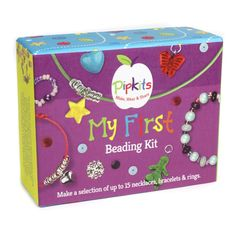 My First Beading Kit is a fab gift idea for girls age 8 who love creating their on jewellery. This kit makes pretty jewellery perfect for girls to give to friends at school.