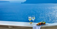 sipping the sea breeze and the deep blue waters of the Aegean Sea