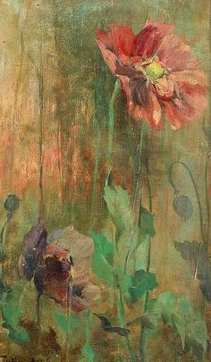 Poppies by Julia Beck (Swedish artist, 1853-1935) via Its About Time blog