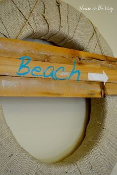 Super cute Summer Burlap Wreath - learn how to make your own with @Allison j.d.m House! on the Way :)