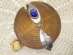 Colgante de Plata Pluma de Lapizlázuli Pendant Necklace, Drop Earrings, Jewelry, Gems, Chains, Pendants, Silver, Gold, Hand Made