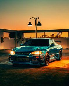Nissan Gtr R34, Gtr R35, Tuner Cars, Jdm Cars, Jdm Wallpaper, Nissan Gtr Skyline, Drifting Cars, Street Racing, City Car