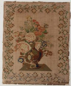 WONDERFUL LARGE SAMPLER by G.FORBUCH  dated 1835