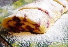 Meggyes tepsis palacsinta   NOSALTY Hungarian Cake, Hungarian Recipes, Cakes And More, Cake Cookies, Crepes, Hot Dog Buns, Mashed Potatoes, Pancakes, Paleo