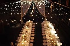 Examples of decor using Christmas string lights (Indoor banquet hall) « Weddingbee Boards