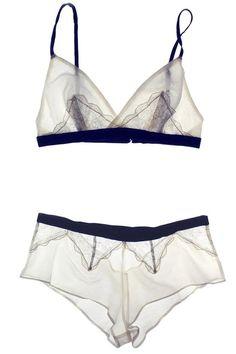 Arabesque Bralette Jasmine/Lagoon Cotton Silk