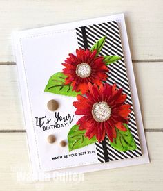 card , flower flowers, daisy sunflower, sunflowers, The Greetery - Cullen-ary Creations: Color Throwdown Card Making Inspiration, Making Ideas, Penny Black, Fusion Card, Daisy, Sunflower Cards, Whimsy Stamps, Scrapbook Paper Crafts, Scrapbook Cards