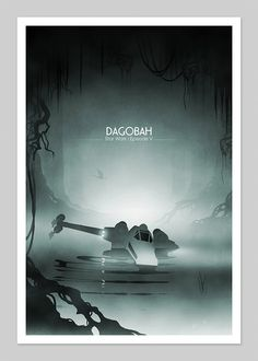 Starwars Dagobah Inspired 13x19 Inch Graphic Print. via Etsy.