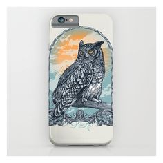 Twilight Owl iPhone 6s Case ($35) ❤ liked on Polyvore featuring accessories, tech accessories and iphone & ipod cases