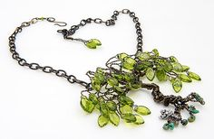 Hey, I found this really awesome Etsy listing at https://www.etsy.com/listing/216990178/green-tree-of-life-necklace-with-glass