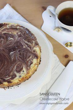 Pour un cheesecake aussi beau que bon mais pourtant sans gluten, n'hésitez pas à tester mon cheesecake marbré