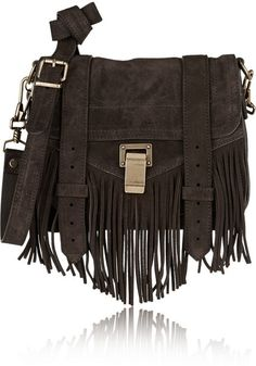 Proenza Schouler The PS1 Pouch small fringed suede shoulder bag