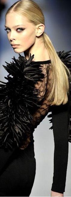 Black Swan, Black And White, Tanya Dziahileva, Luxury Wardrobe, Strike A Pose, Woman Face, Wearing Black, Ysl, Irish