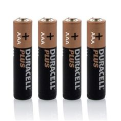 Duracell Alkaline Batteries (AAA) Pack of 4