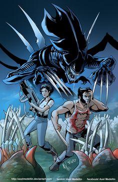 TLIID 332. Logan and Ripley. And aliens. by AxelMedellin.deviantart.com on @DeviantArt