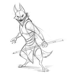 Masked Wolf by Temiree.deviantart.com on @DeviantArt I felt like drawing somebody posing 'badassfully.' I threw down some shapes, and accidentally created a Kung Fu Panda character. :B He looks like one of those characters where you're not sure for most o