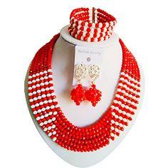 laanc 6 Rows Trendy Fashion Jewelry Opaque Red And Opaque... https://www.amazon.com/dp/B01N4O2WVH/ref=cm_sw_r_pi_dp_x_O8jFybJVAPGJ0