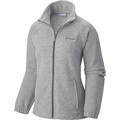 COLUMBIA Women's Benton Springs Full-Zip Fleece Jacket in Light Grey Heather - SportsAuthority.com