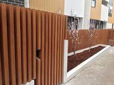 Image result for Vertical slat timber fence