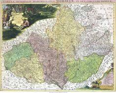 Mapa Moravy z roku 1742
