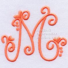 Amazing Embroidery Designs  Letter M