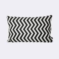 Black ZigZag Cushion