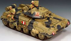 World War II British Army Cruiser Tank set - Made by King and Country Military Miniatures and Models. Factory made, hand assembled, painted and boxed in a padded decorative box. Excellent gift for the enthusiast. British Army, British Tanks, Crusader Tank, Model Tanks, King And Country, Military Modelling, Ww2 Tanks, Military Diorama, Military Weapons