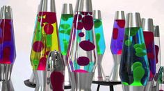 Chill out with the most beautiful lava lamps in the world, from Mathmos, the folks who invented the lava lamp back in We love British Original Lava Lam. Lava Lamps, Living Room Inspiration, Wax, Bubbles, Table Lamp, History, Aesthetics, Collections, Drinks