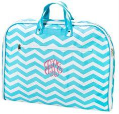 Aqua Zigzag Garment Bag $28.95