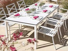 Gloster Esstisch Roma HPL Weiß kaufen im borono Online Shop