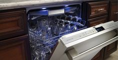 Thermador Star-Sapphire Dishwasher with top utensil rack. Kitchen Upgrades, Kitchen Reno, Kitchen Remodel, Kitchen Design, Victoria Hill, Utensil Racks, New Condo, Easy Cooking, The Ordinary