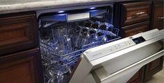 Thermador Star-Sapphire Dishwasher with top utensil rack. Kitchen Upgrades, Kitchen Reno, Kitchen Remodel, Kitchen Design, Utensil Racks, New Condo, The Ordinary, Decoration, Home Kitchens