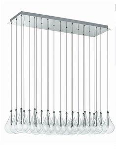 Drop 24 Lamp Rectangular wire suspended ceiling pendant